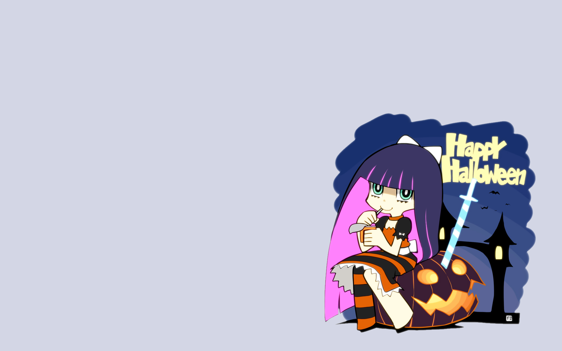 anime girls anarchy stocking panty and stocking with garterbelt lolita simple background gothic