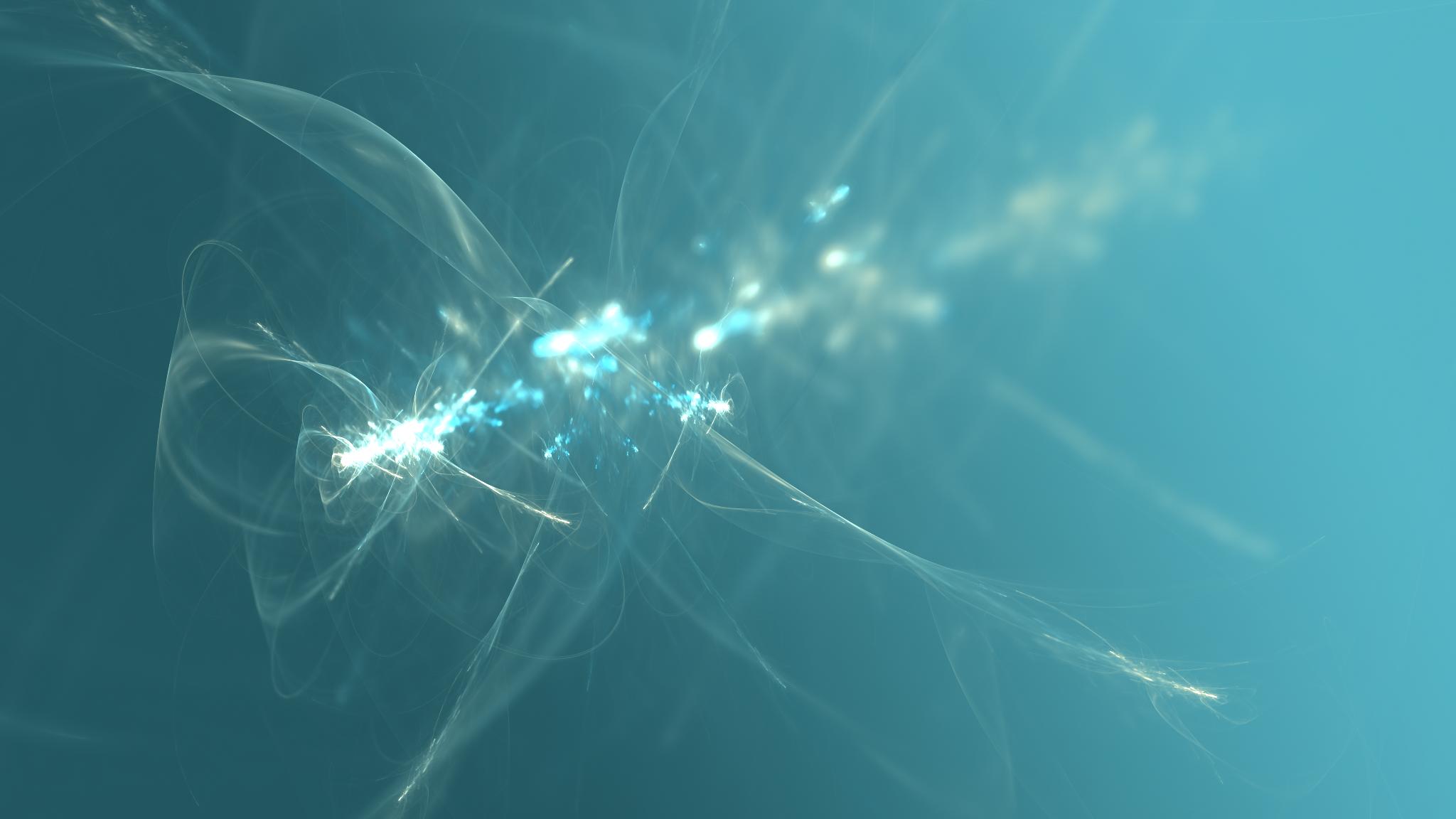 artwork blue fractal digital art abstract shapes