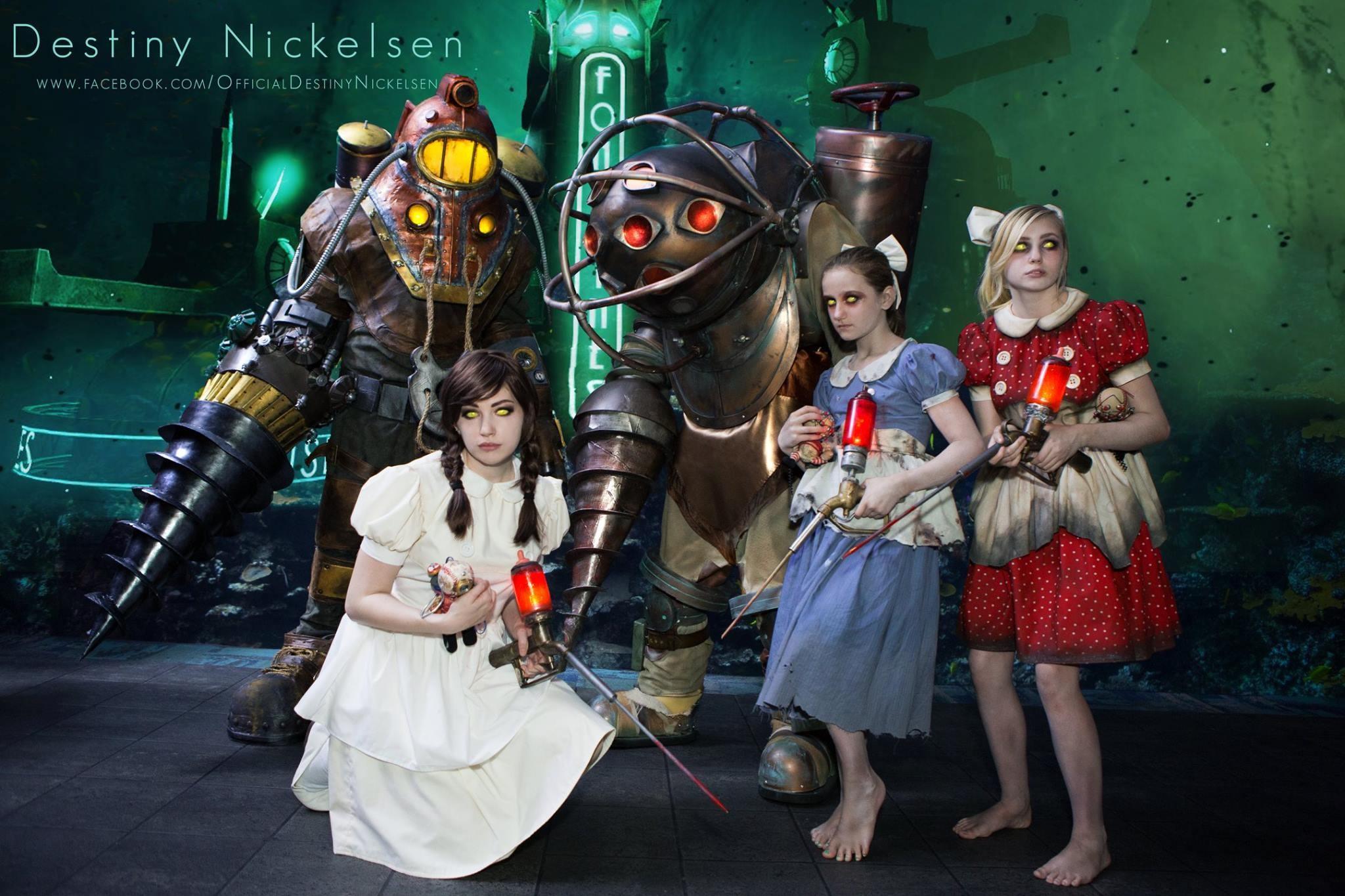 bioshock little sister watermarked cosplay video games big daddy