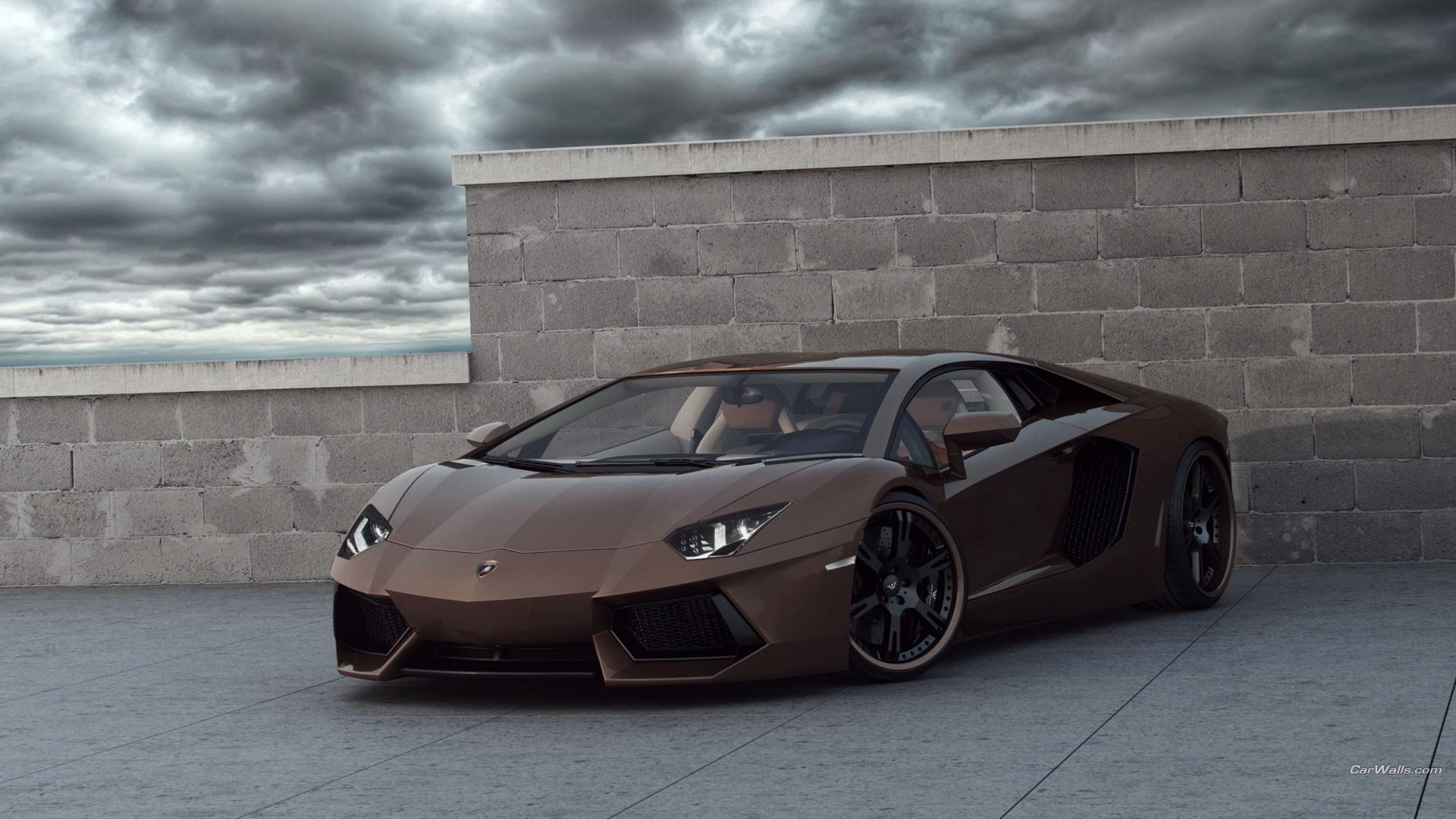 brown cars sports car lamborghini aventador coupe car
