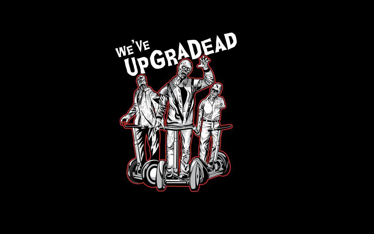 dark humor zombies minimalism