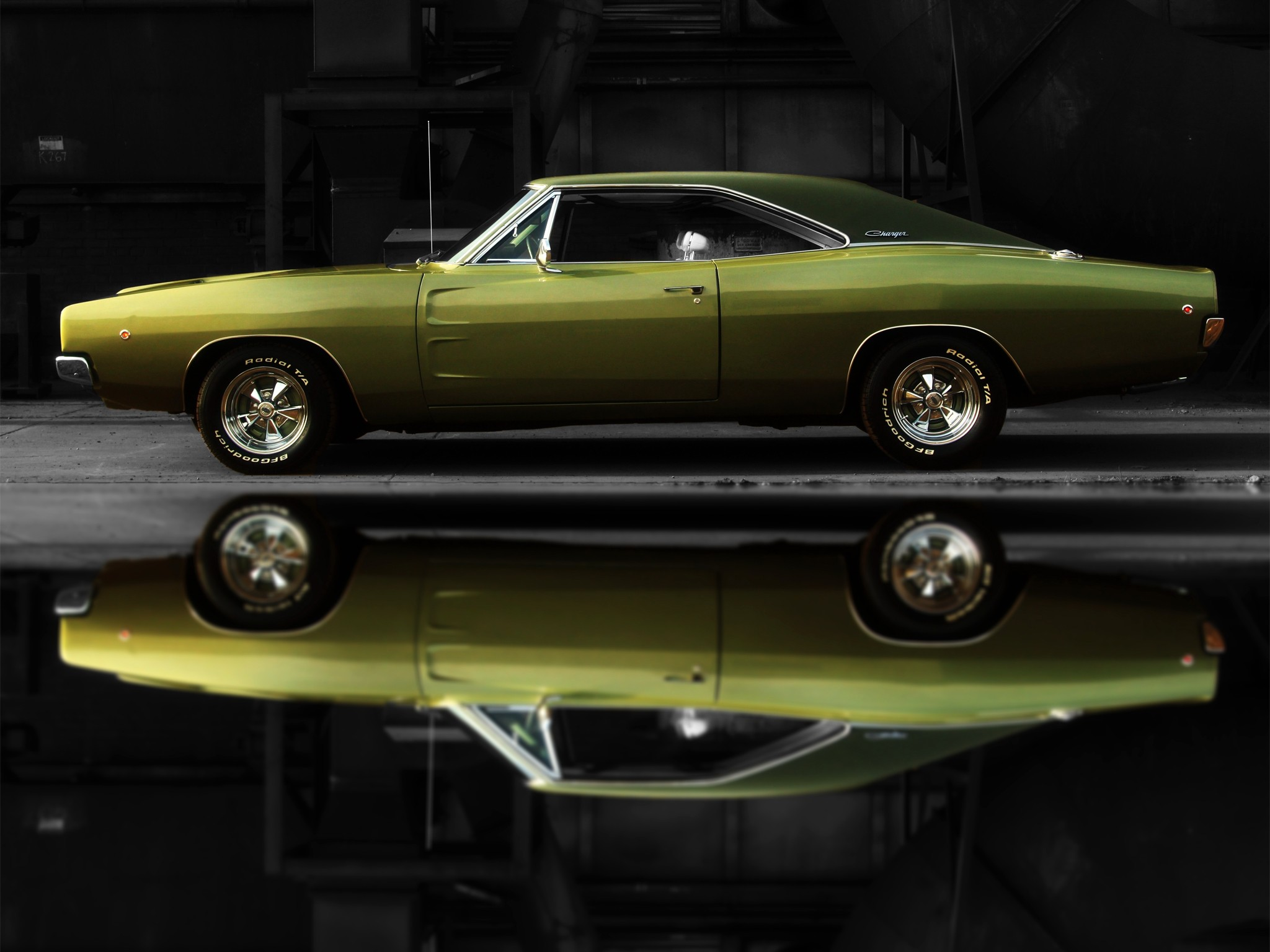 dodge charger muscle cars reflection old car car dodge