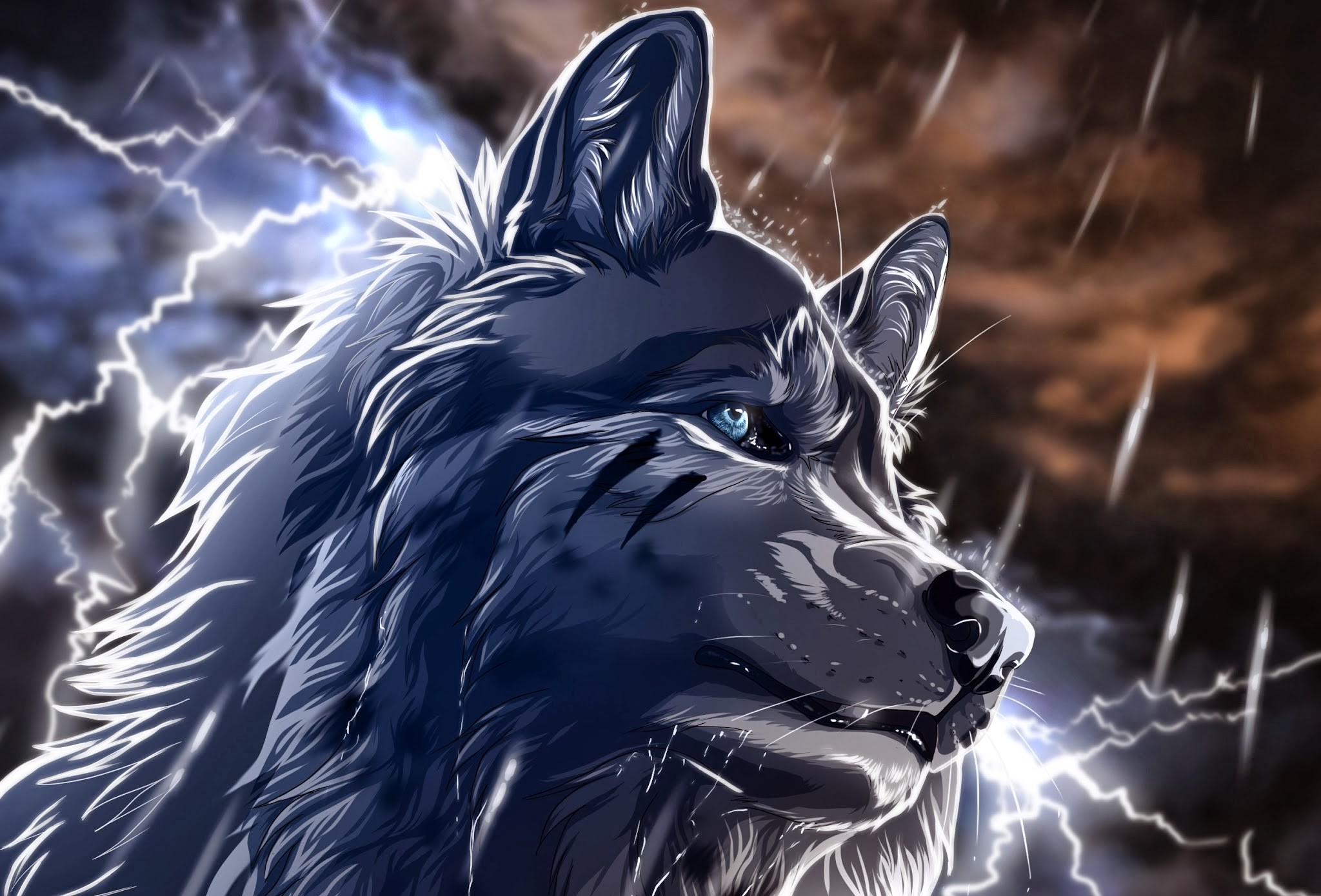 fantasy art animals wolf
