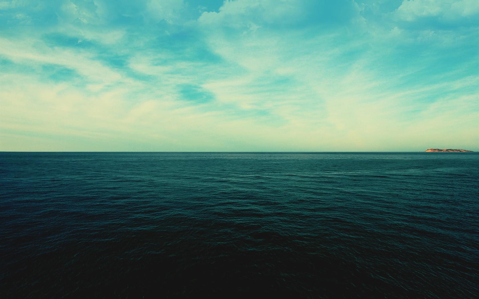 horizon landscape sky sea