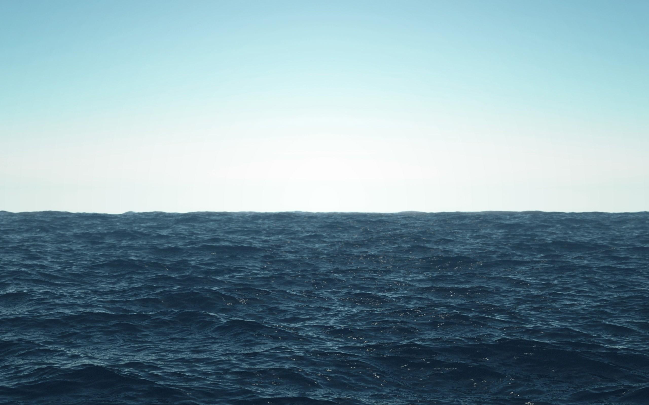 horizon waves sea landscape