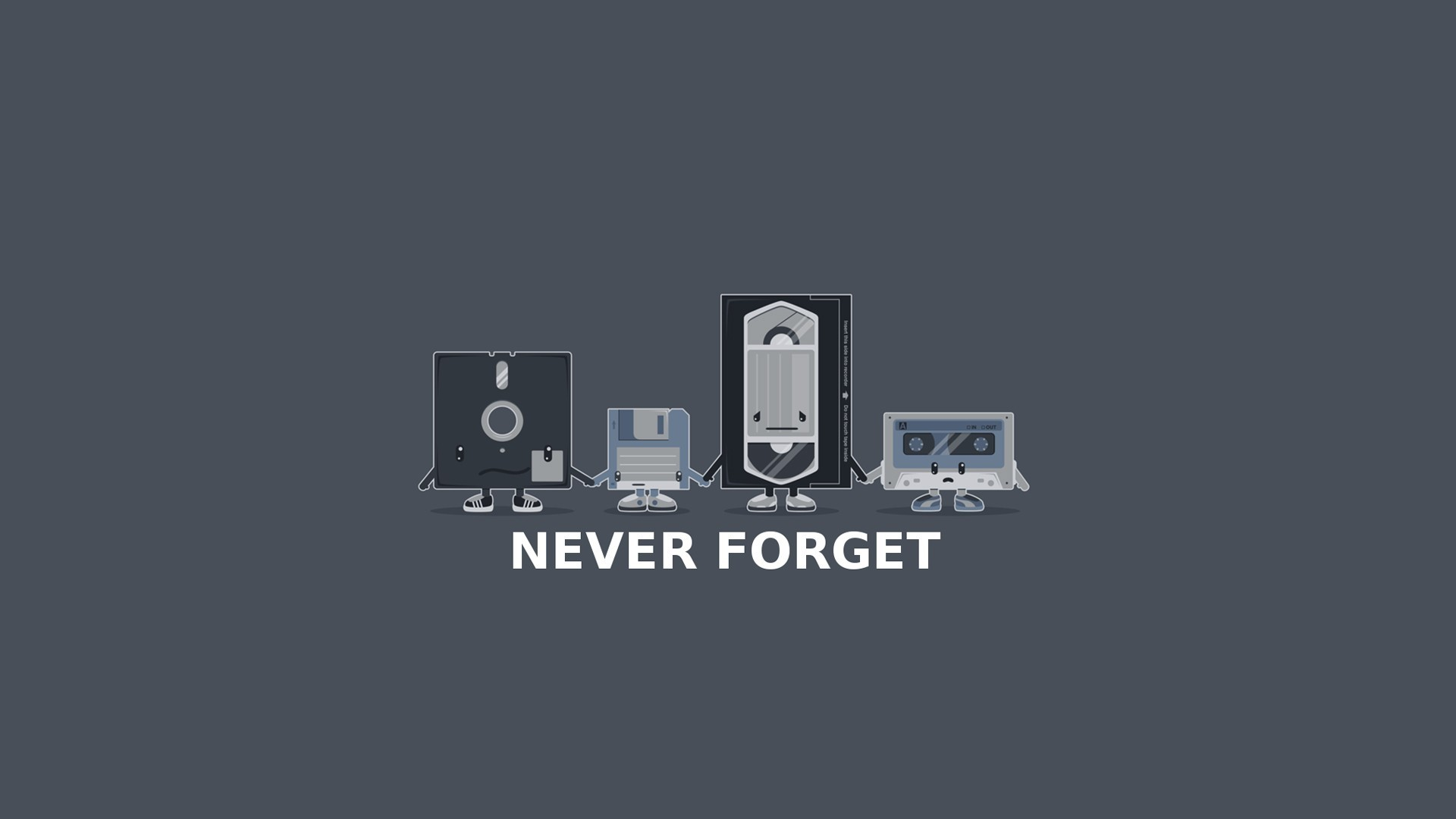 humor computer vhs floppy disk digital art simple background nostalgia vintage minimalism tape gray