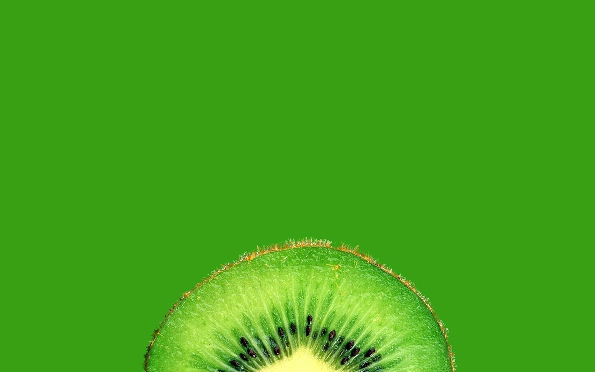 kiwi (fruit) fruit green background