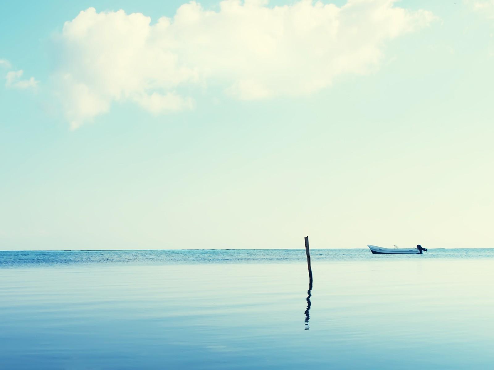landscape sea horizon boat