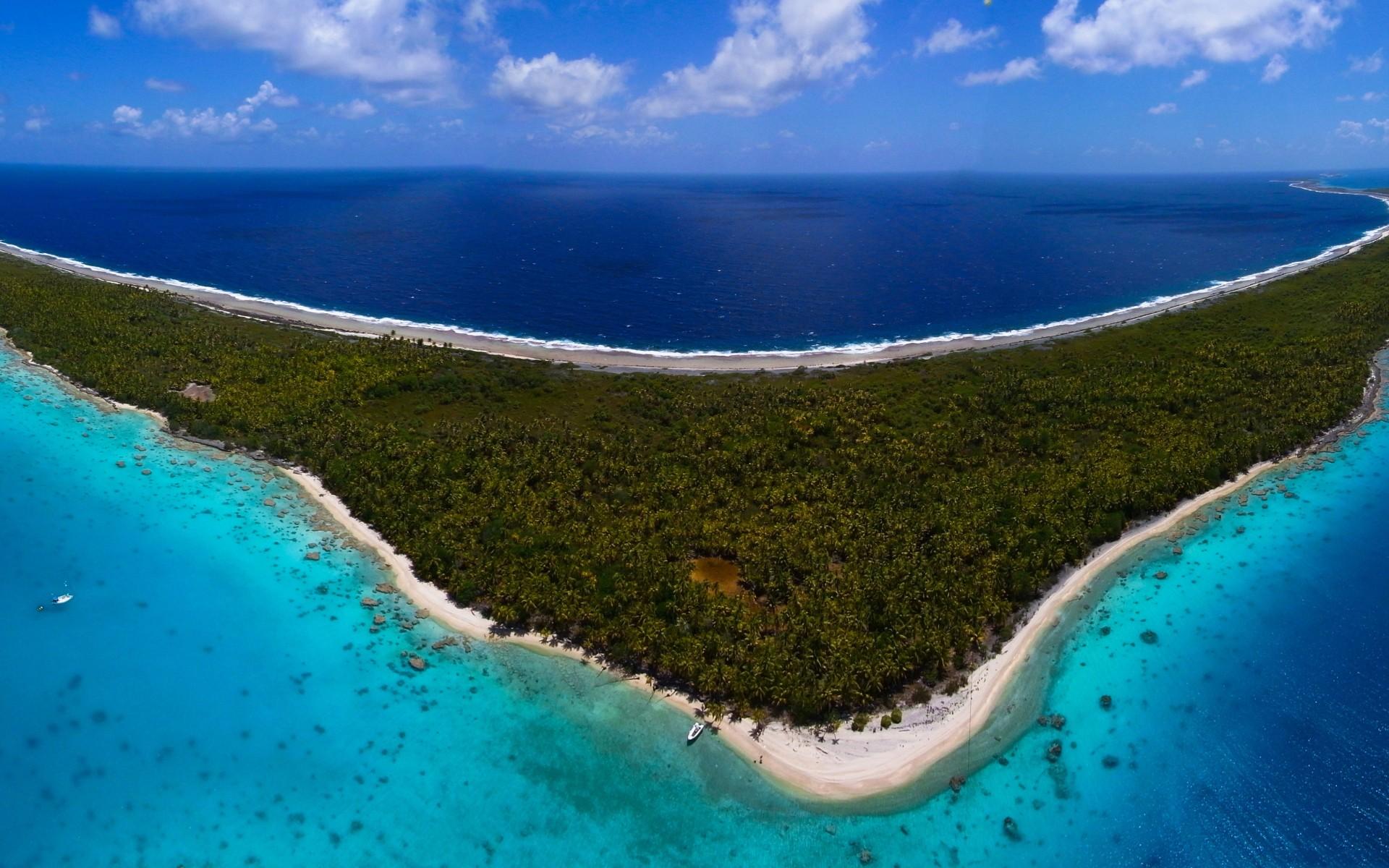 landscape south sea tuamotu sea island