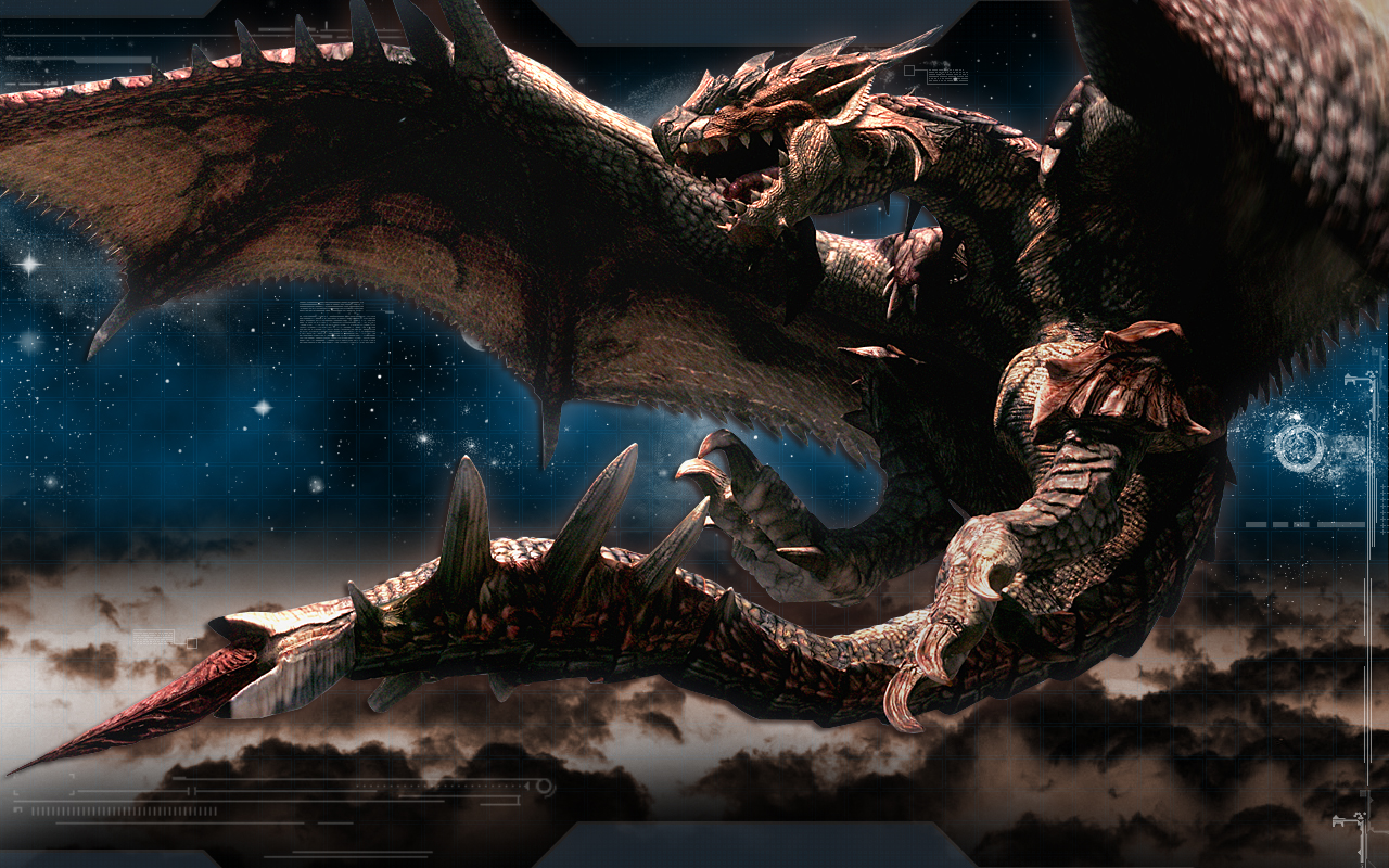monster hunter dragon rathalos artwork video games