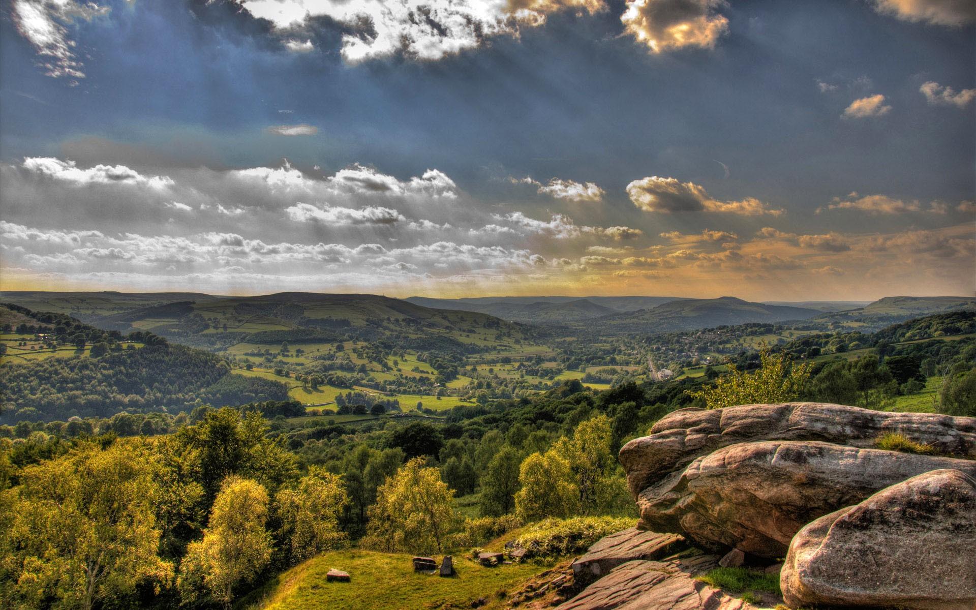 nature sky rock landscape clouds