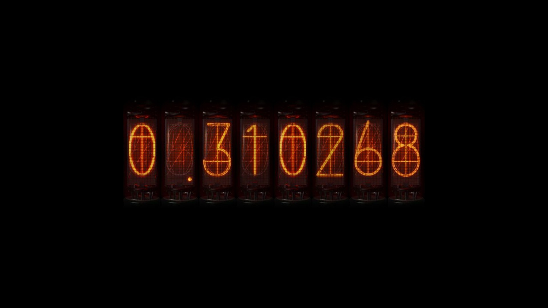 nixie tubes numbers steins;gate time travel anime divergence meter