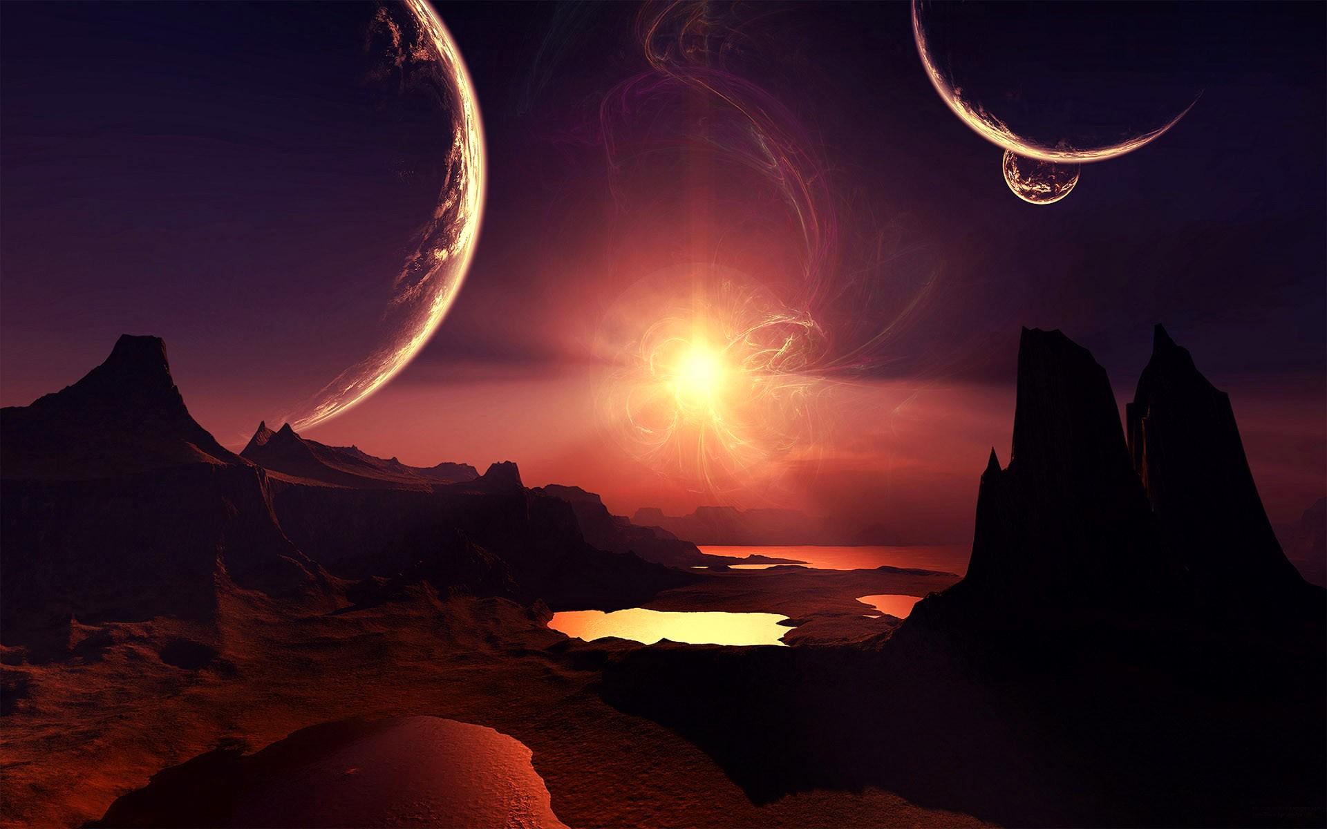 planet fantasy art space art digital art