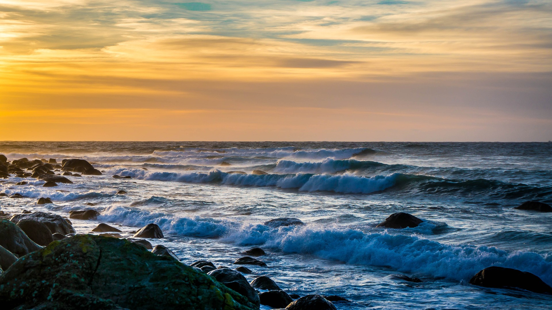 sea beach sky horizon