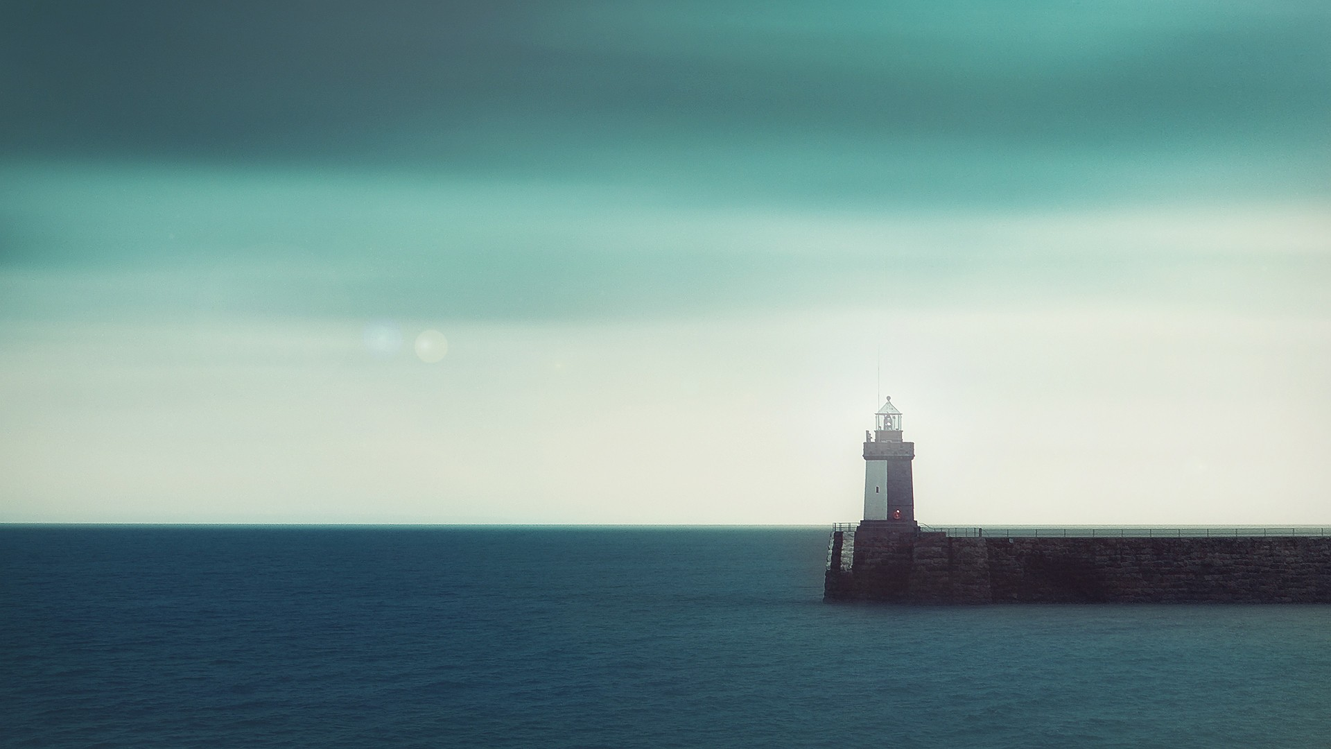 sea lighthouse horizon sky
