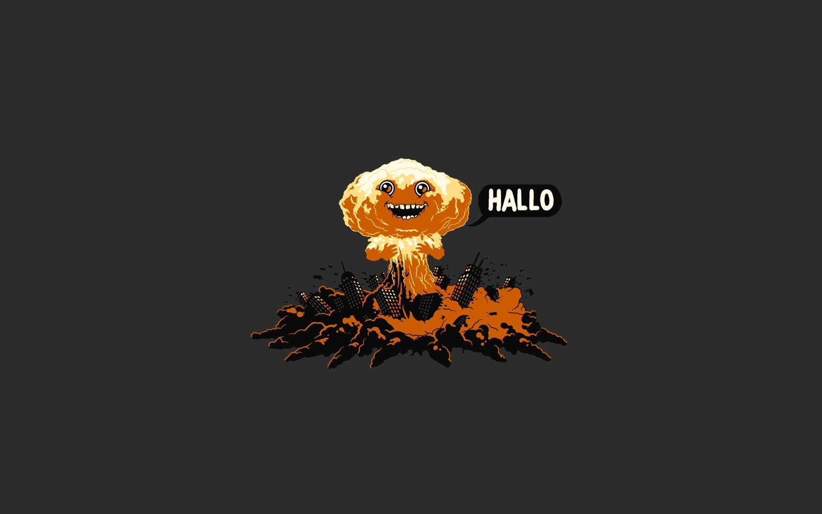 simple background minimalism apocalyptic dark humor humor