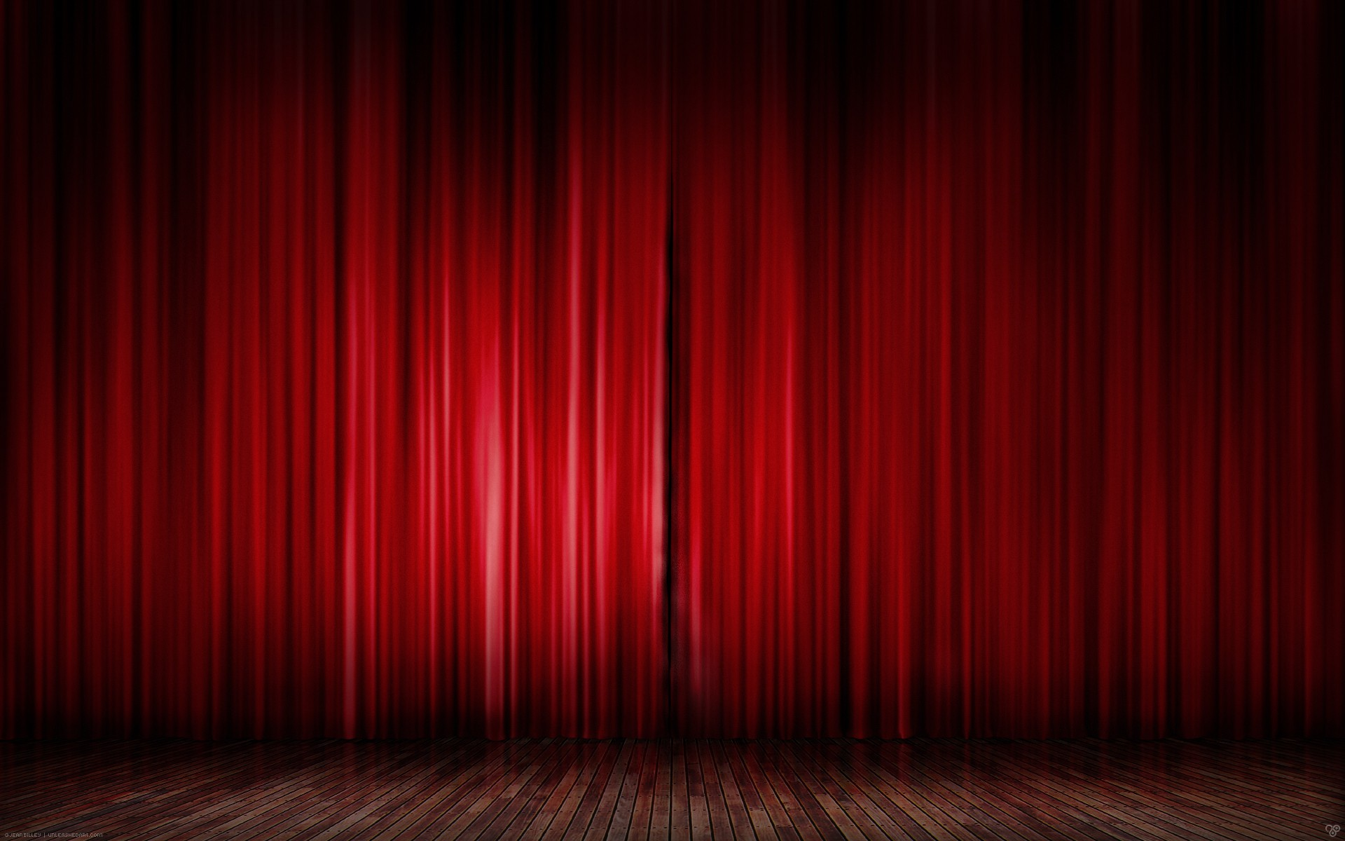 simple background red curtains