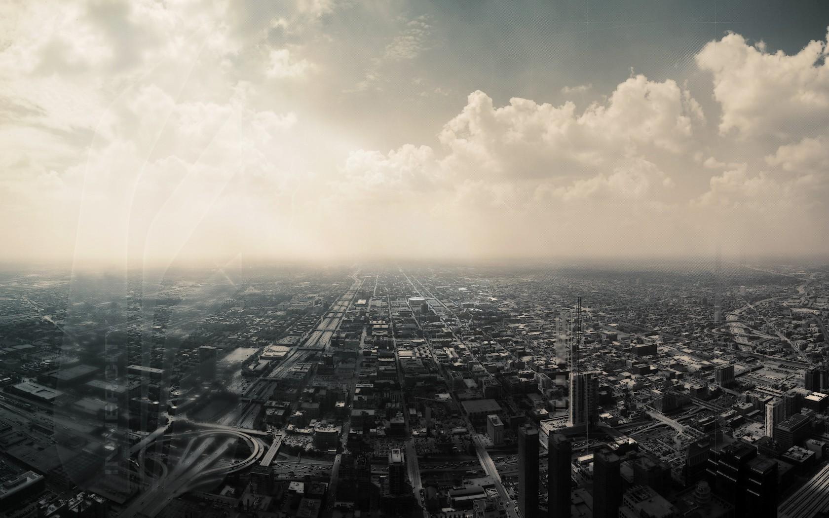sky chicago horizon clouds