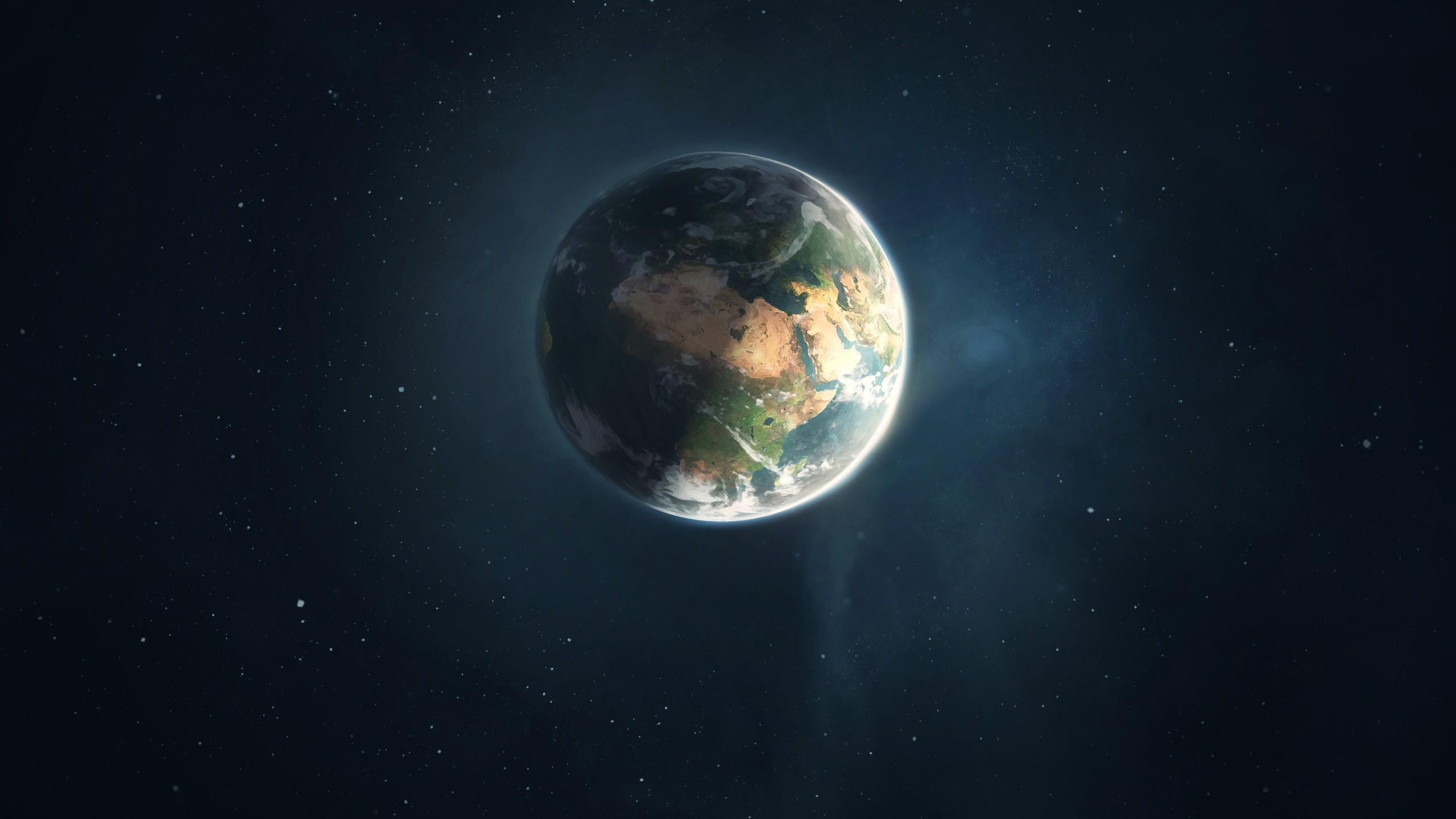 space art space planet digital art earth