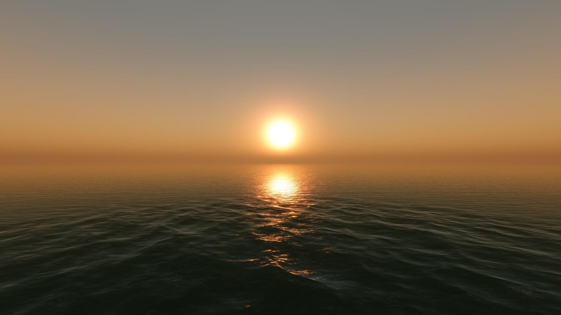 sun sunset horizon