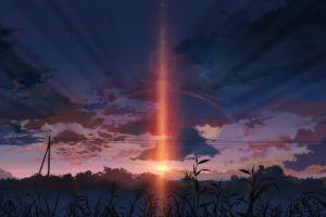 5 centimeters per second anime landscape sunset