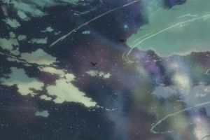 5 centimeters per second clouds anime sky