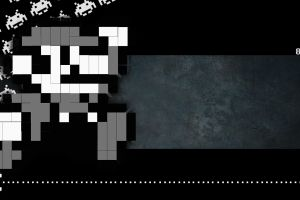 8-bit space invaders pixel art super mario pacman video games