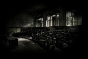 abandoned dark ruins