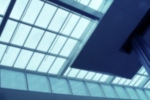 abstract architecture glass metal window building