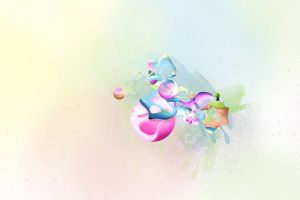 abstract artwork shapes digital art simple background