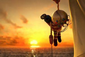 abstract bioshock 2 sea sunset baseball doll video games toy big daddy bioshock unravel