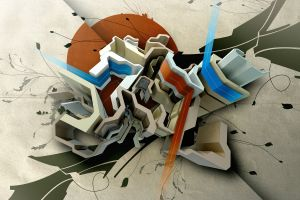 abstract digital art artwork shapes lines