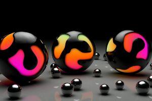 abstract digital art render balls marble cgi