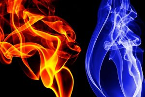 abstract digital art smoke colorful simple background