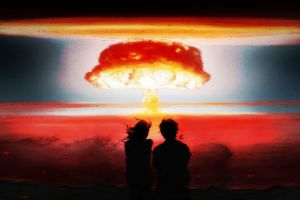 abstract explosion apocalyptic nuclear atomic bomb