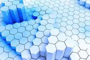 abstract hexagon digital art render