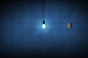 abstract lightbulb pattern digital art fly