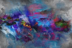 abstract painting artwork colorful