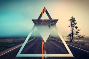 abstract polyscape triangle road landscape