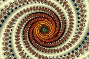 abstract spiral fractal