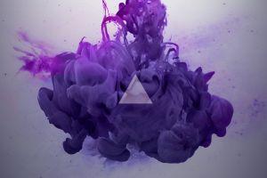 abstract triangle smoke digital art