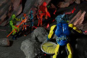 action figures comic art toys blue