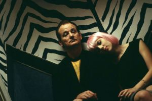actor men sofia coppola bill murray pink hair lost in translation actress movies scarlett johansson women closed eyes