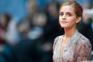 actress emma watson celebrity women face blonde