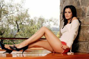 actress rachel bilson black hair women heels legs