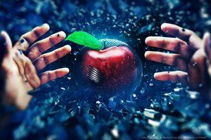 adam spizak digital art apples hands