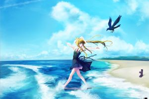 air (anime) anime girls anime