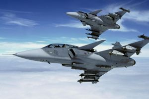 aircraft jas-39 gripen airplane vehicle sky military military aircraft