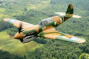 airplane aircraft curtiss p-40 warhawk