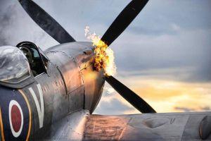 airplane spitfire military aircraft world war ii propeller